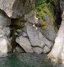 Big Rope Swing water drop near rocks